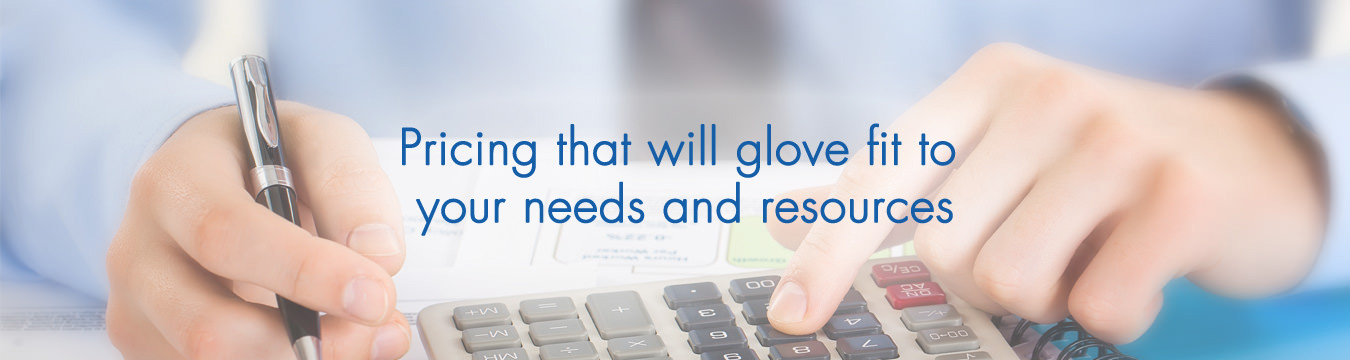 pricing that will glove fit to your needs and resources